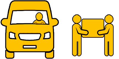 Furgoneta con conductor + 2 Operarios